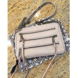 Rebecca Minkoff Pale Grey Mini 5 Zip Crossbody
